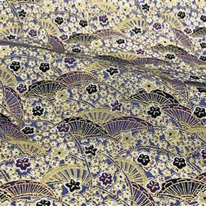 Mito Lilac Crescent Design Fabric Metallic 0.5m