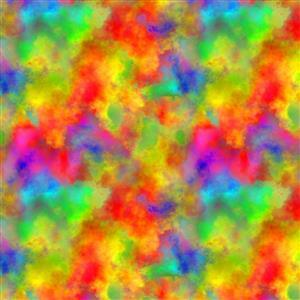 Rainbow Paint Splash Fabric 0.5m