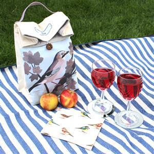 August Bird of the Month Jay Lunch Bag Kit: Instructions & Panel (140 x42cm)