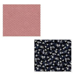 Rose & Black Floral Fabric Bundle (1m)