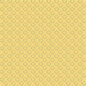 Riley Blake Idyllic Squares Yellow Fabric 0.5m