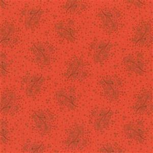 Henry Glass Esters Heirloom Shirtings Red Floral Sprays Fabric 0.5m