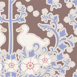 Tilda Plum Garden in Duck Nest Nutmeg Fabric 0.5m