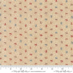 Moda Lancaster in Cream Multi Dots Fabric 0.5m