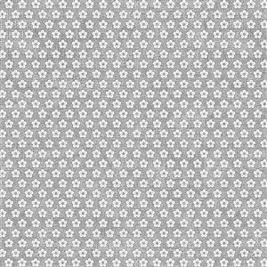 Hannah Basic Flowers on Grey Fabric 0.5m