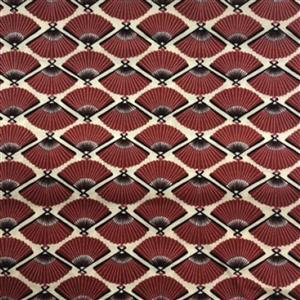 Japanese Fans Red Fabric 0.5m