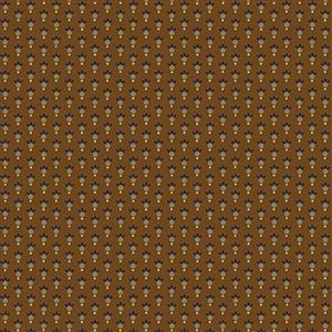 Henry Glass Esters Heirloom Shirtings Chestnut Leafy Rings Fabric 0.5m
