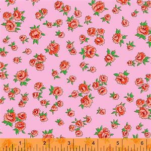 Posy Little Roses On Pink Fabric 0.5m