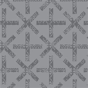 Alison Glass Art Theory Grey Cross Fabric 0.5m