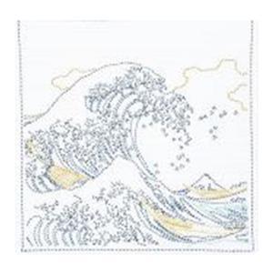 Hana-fukin Waves Ukiyoe Sashiko Kit