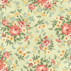 Spiced Garden in Sage Floral Fabrics 0.5m