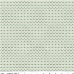 Riley Blake Tea With Bea Sand Dollar Bee Fabric 0.5m