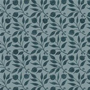 William Morris Granada in Rosehip Indigo Fabric 0.5m