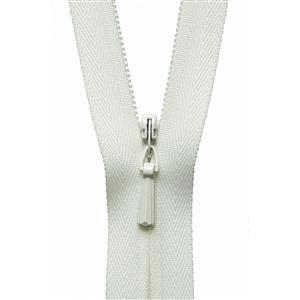 Cream Nylon Dress and Skirt Zip 20cm