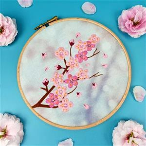 Oh Sew Bootiful Cherry Blossom Embroidery Kit