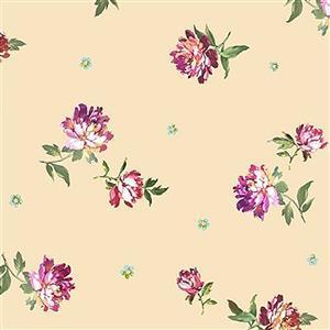 Michael Miller's Victoria's Garden Fuchsias on Cream Fabric 0.5m