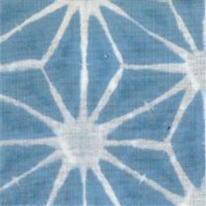 Sakuru Denim Blue Asanoha Fabric 0.5m