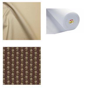 Ash Leaves Drawstring Bag Bundle: Fabric (2m) & Fleece (1m)