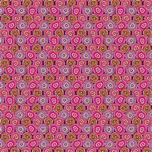 Odile Bailleouls MagiCountry Geodes Prune Fabric 0.5m