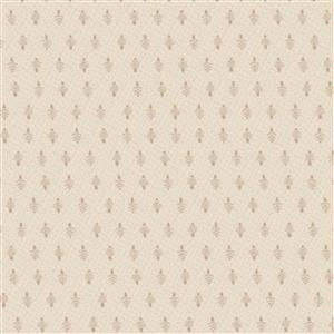 Lynette Anderson Peace & Joy Little Trees On Cream Fabric 0.5m
