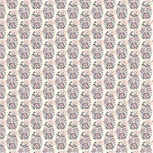 Liberty Emporium Collection Tudor Palmeria Pink Fabric 0.5m