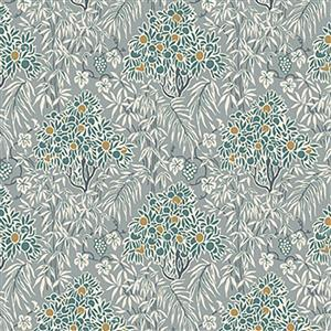 Liberty Woodhaze in Teal Fabric from Winterbourne House Range 0.5m