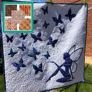 Delphine Brooks' Orange Magical Wall Hanging Kit: Instructions, FQ (5pcs) & Fabric (1m)
