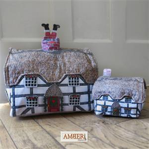 Amber Makes Christmas Tudor Cottage and Pin Cushion Kit: Instructions & Fabric Panel
