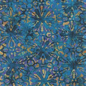 Dan Morris Tropicalia Pin Wheel Floral Blue Fabric 0.5m