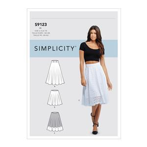 Simplicity Misses' Three-Quarter Skirt Pattern: Size 14-22