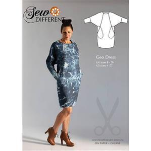 Sew Different Geo Dress Sewing Pattern - Sizes 8-26