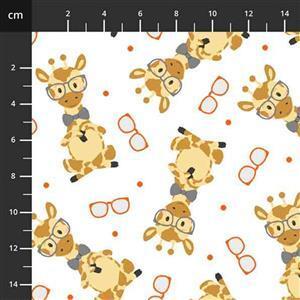 Henry Glass Wild & Free Tossed Giraffe Fabric 0.5m