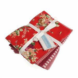 Printed Red Fat Quarters Pack of 5