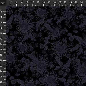 Bloom Black On Black Extra Wide Backing Fabric 0.5m (280cm Width)