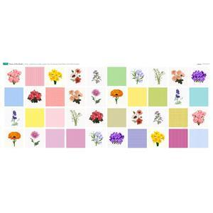 Flower of the Month 40 x Squares Panel (140 x 63cm)