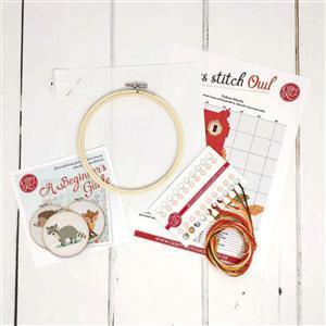 The Crafty Kit Company Owl Cross Stitch Kit