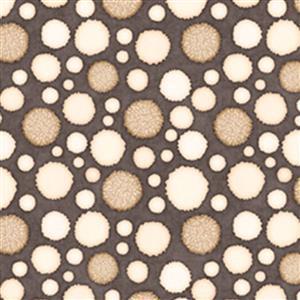 Dan Morris Monkey Biz Puffs On Taupe Fabric 0.5m