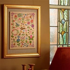 Cross Stitch Guild Bugs and Beasts on Linen Kit