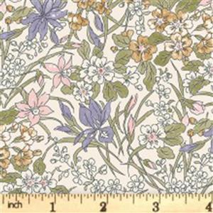 Liberty English Garden Collection Pale Multi Ricardo Fabric 0.5m
