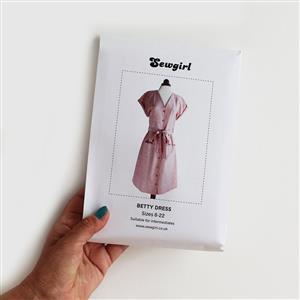 Betty Dress Sewing Pattern by Sewgirl - Sizes 8-22