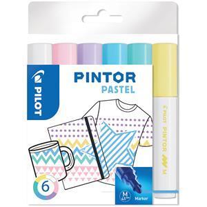 Medium point Pastel Colours Fabric PensPack of 6