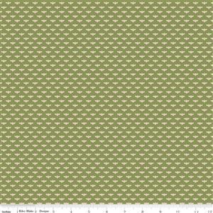 Riley Blake Tea With Bea Green Bee Fabric 0.5m