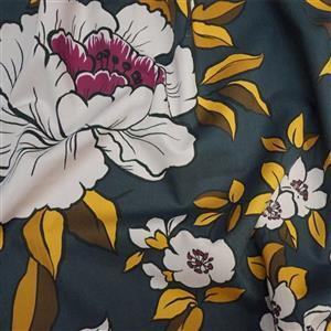 Coleman Bouquet Gold Marlie-Care Lawn Fabric 0.5m