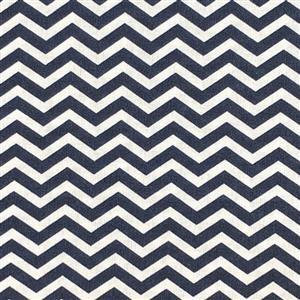 Chevron Navy Fabric 0.5m