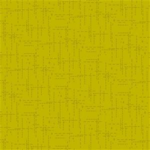 Stitched Effect Chartreuse Fabric 0.5m