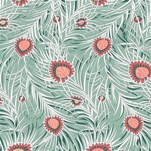 Liberty Hesketh House Collection in Green Pipers Peacock Fabric 0.5m