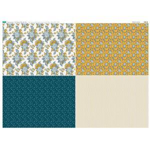 Copen Summer 4 FQ's Fabric Panel 1: 140 x 105cm: Exclusive