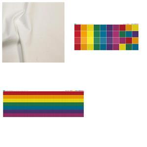 Inspiring Improv Rainbow Duo Cushion Bundle: Fabric (1m) & Fabric Panels (2 pcs)