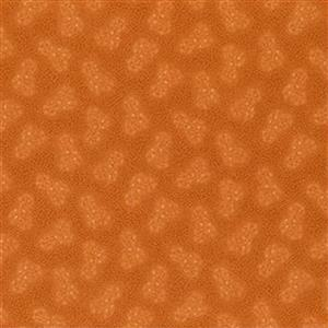 Henry Glass Esters Heirloom Shirtings Orange Double Daisies Fabric 0.5m