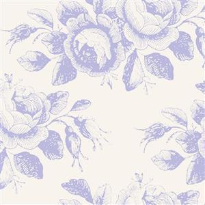 Tilda Old Rose in Mary Blue Fabric 0.5m